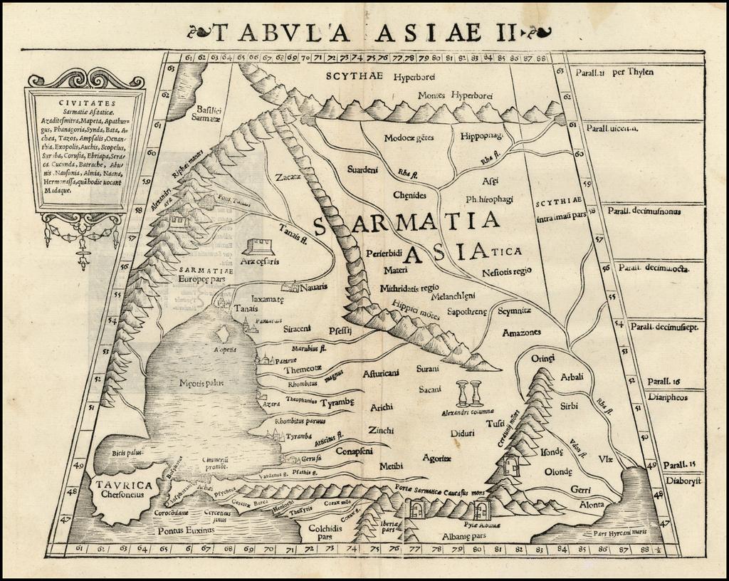 Tabula Asiae II    By Sebastian Münster