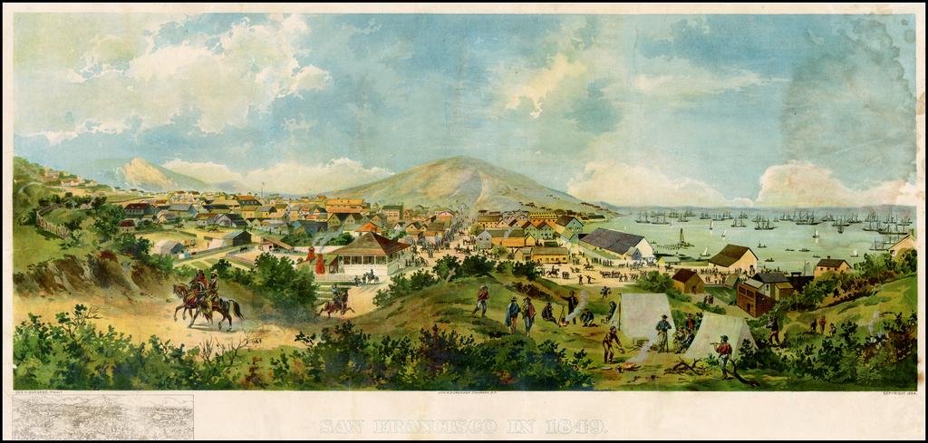 San Francisco in 1849 By H.S. Crocker & Co. / George H. Burgess