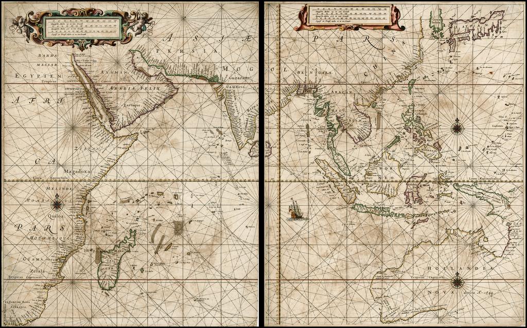 First Map Of Australia.Untitled Sea Chart Of Australia Indian Ocean China Japan Se Asia