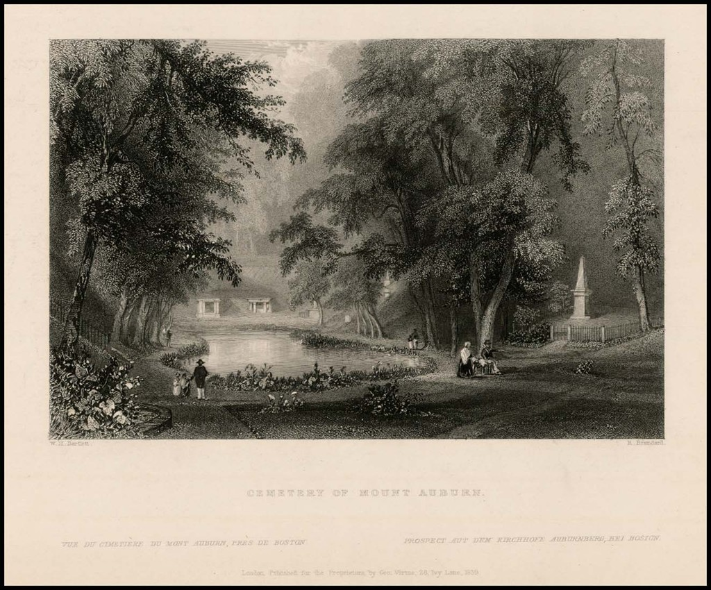 Cemetery of Mount Auburn By George Virtue