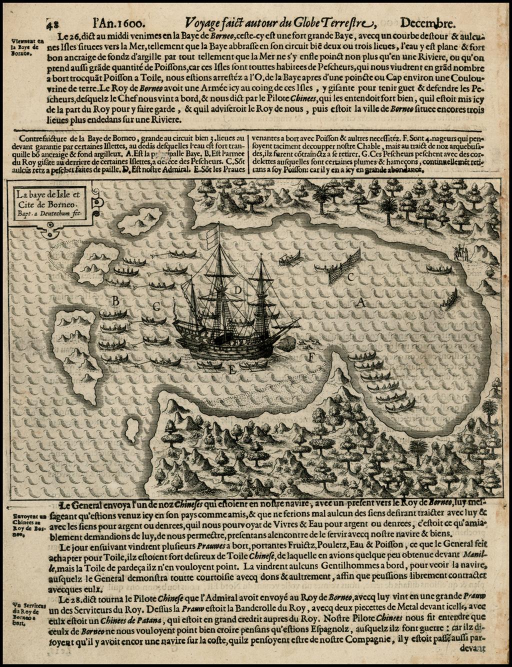 La baye de Isle et Cite de Borneo . . .  By Olivier Van Noort