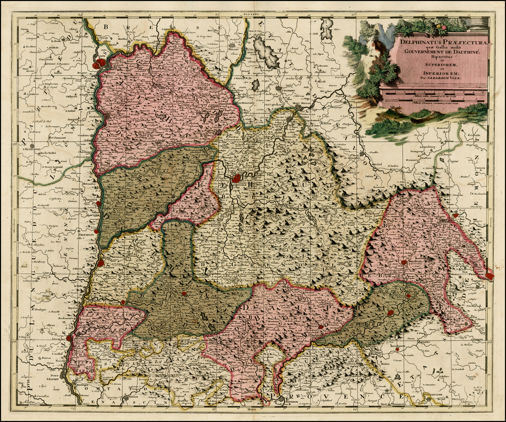 Delphinatus Praefectura quae Gallis audit Gouvernement De Daufine; Bipartitus in Superiorem, et Inferiorem . . . By Gerard Valk