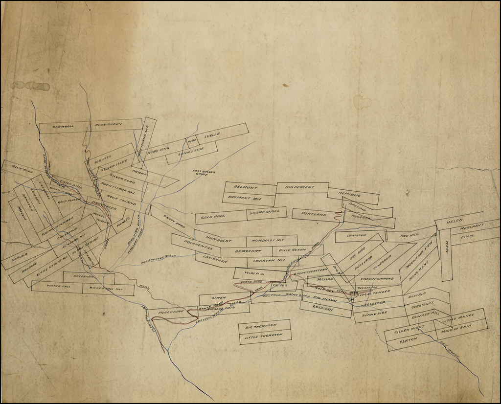 (Untitled Manuscript Mining Map of Mining Regions in La Plata County, Colorado) By Anonymous