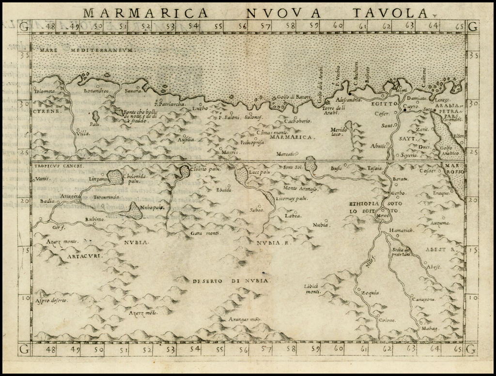 Marmarica Nuova Tavola By Girolamo Ruscelli