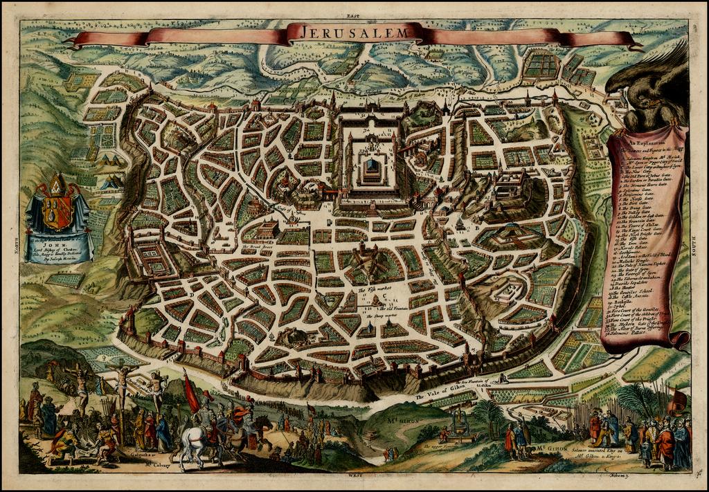 Jerusalem By Joseph Moxon