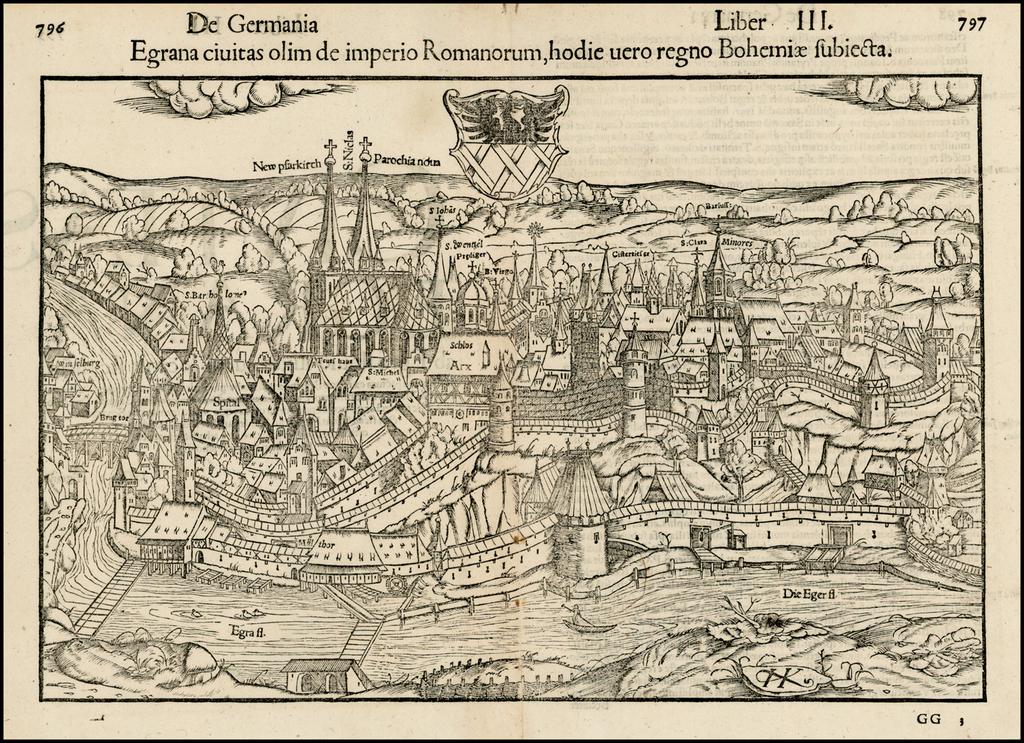 Egrana civitas olim de imperio Romanorum, hodie vero regno Bohemiae subiecta By Sebastian Münster