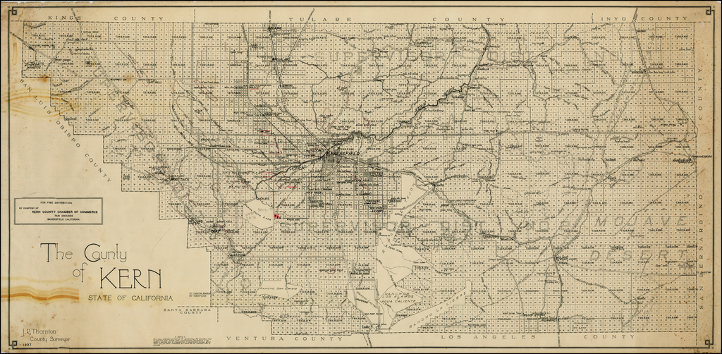 The County of Kern State of Caliornia. J.R. Thornton County ... on wilmot map, lafayette map, taizhou city map, e-470 map, otis map, retreat map, lochbuie map, saddle mountain map, commerce city co map, downcity providence map, riverside township map, new ipswich map, cherry hills village map, ophir map, glencoe map, sloan's lake map, northglenn colorado map, patterson map, arvada map, elizabeth map,