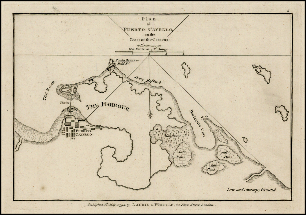 Puerto Cavello on the Coast of Caracas; by Lt. Jones in 1741 By Sayer & Bennett