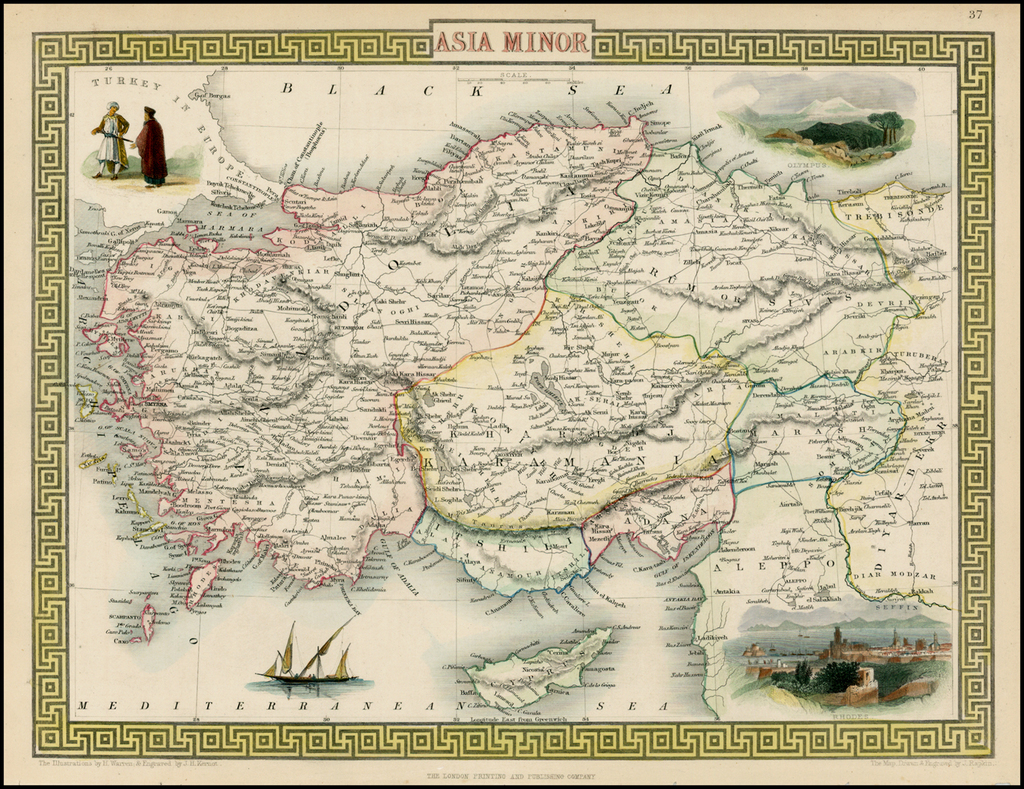 Asia Minor [shows Cyprus] By John Tallis