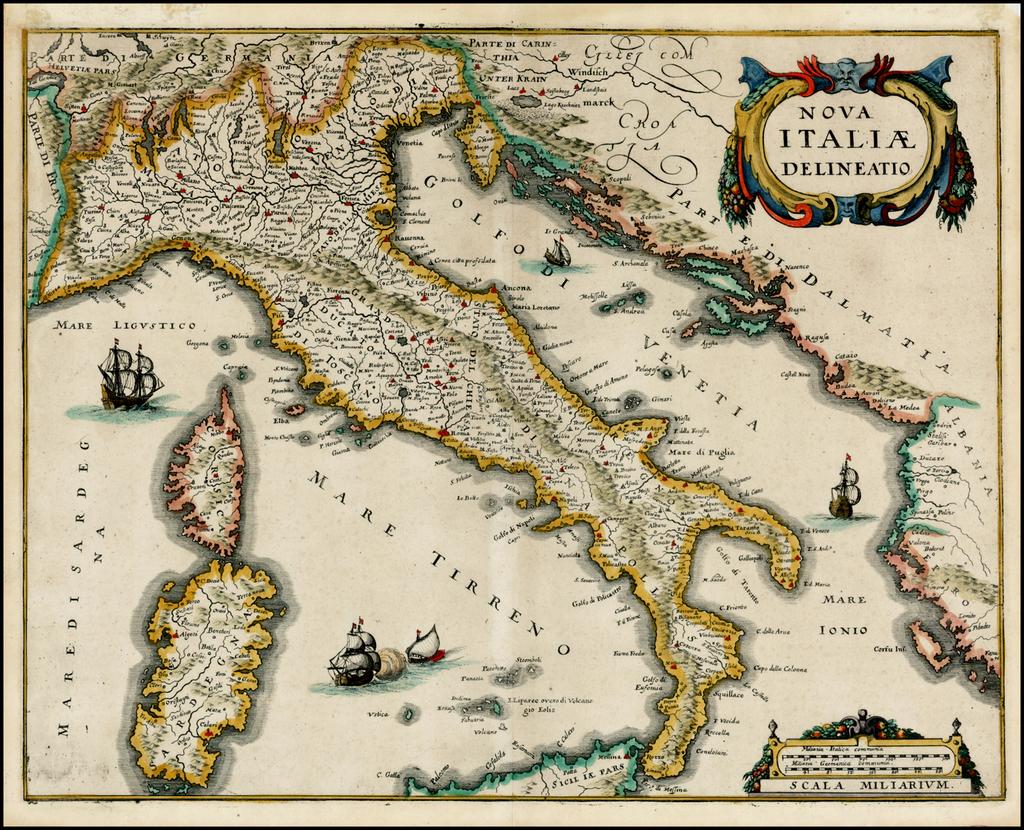 Nova Italiae Delineatio By Matthaus Merian