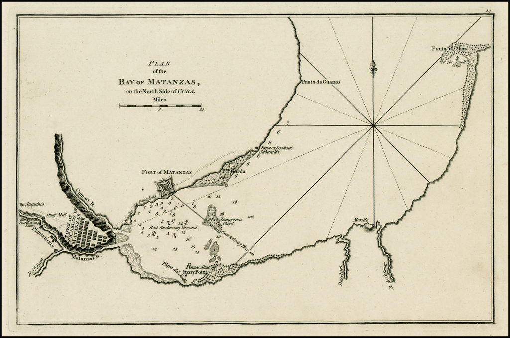 Plan of the Bay of Matanzas on the North Side of Cuba By Sayer & Bennett