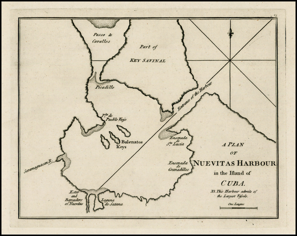 A Plan of Nuevitas Harbour in the Island of Cuba. By Sayer & Bennett