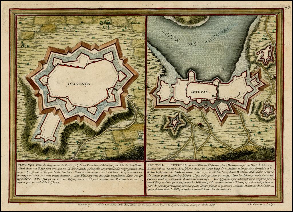 Olvenca (and) Setuval By Nicolas de Fer