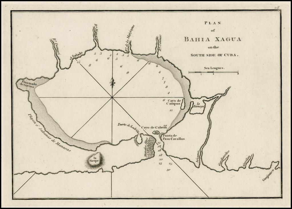 Plan of Bahia Xagua on the South Side of Cuba By Sayer & Bennett
