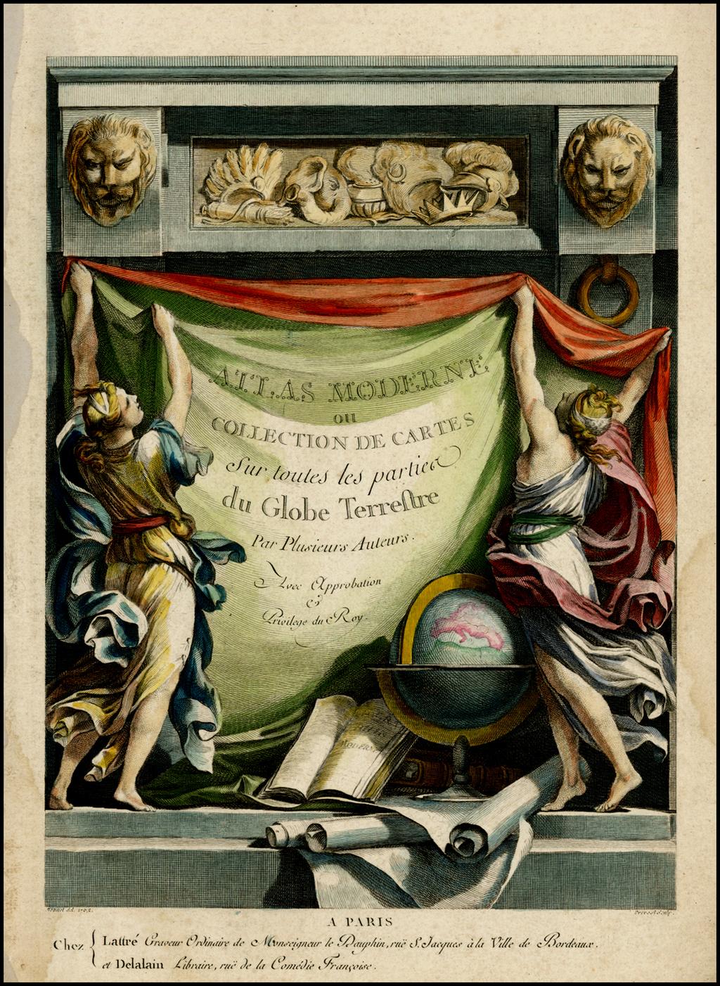 [Title Page] Atlas Moderne ou Collection de Cartes sur toutes les partier du Globe Terrestre . . .  By Jean Lattre