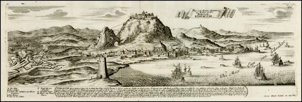 Das von denen Spaniern in Anno 1727 Belagerte Gibraltar By Christian Friedrich von der Heiden