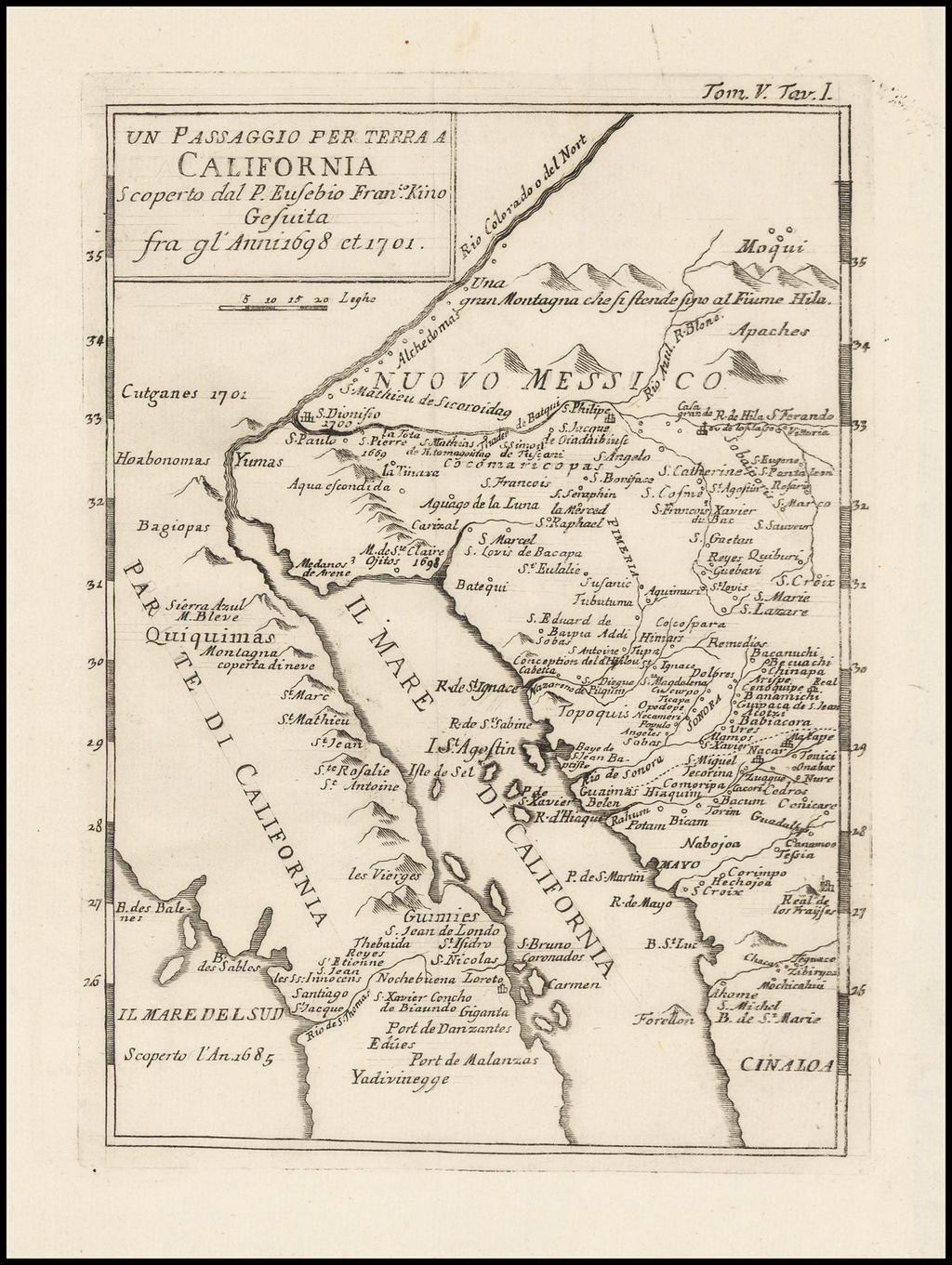 Un Passaggio per Terra a California Scoperto dal P. Eusebio Francesco Kino Gesuita Fragli Anni 1698 et 1701 By Fr. Eusebio Kino