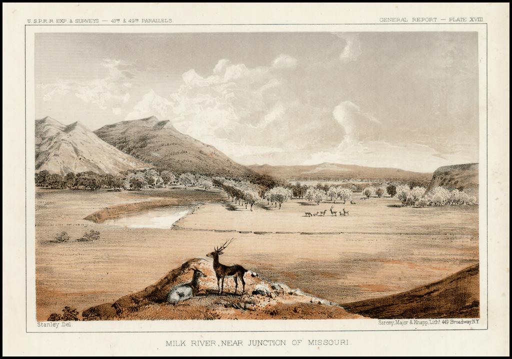 Milk River, Near Junction of Missouri By U.S. Pacific RR Survey