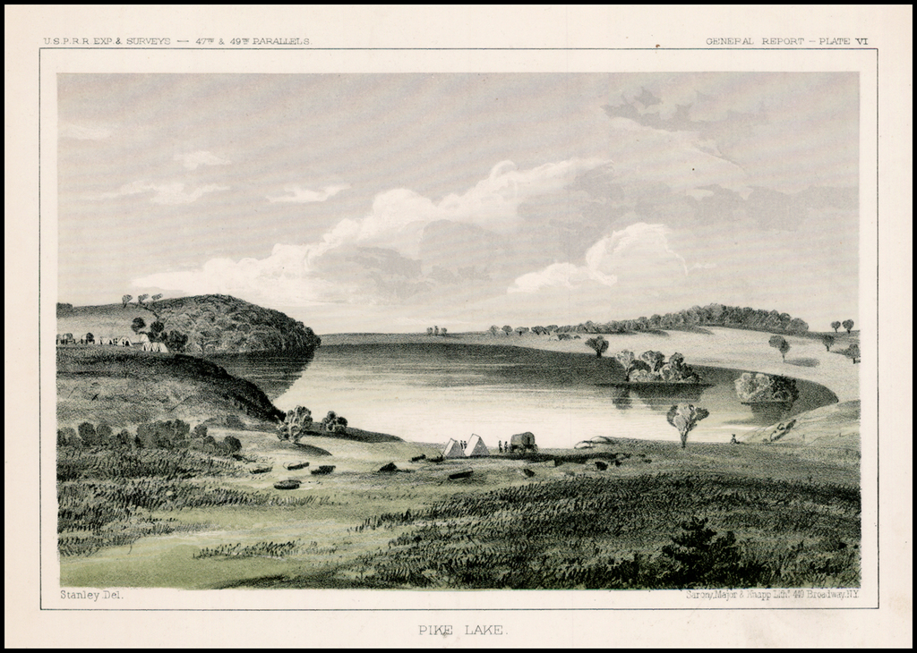 Pike Lake By U.S. Pacific RR Surveys