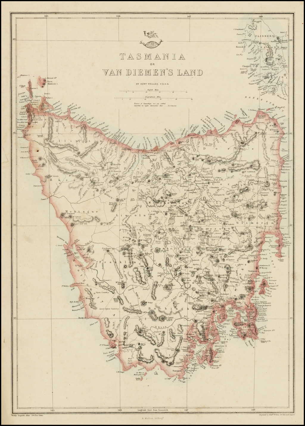 Tasmania or Van Diemen's land By Edward Weller