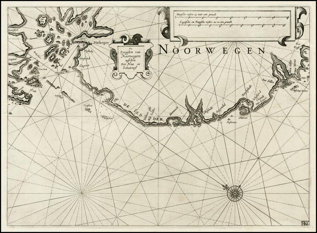 De Zeecusten van Noorwegen tusschen Der Neus en Schuteness By Willem Janszoon Blaeu