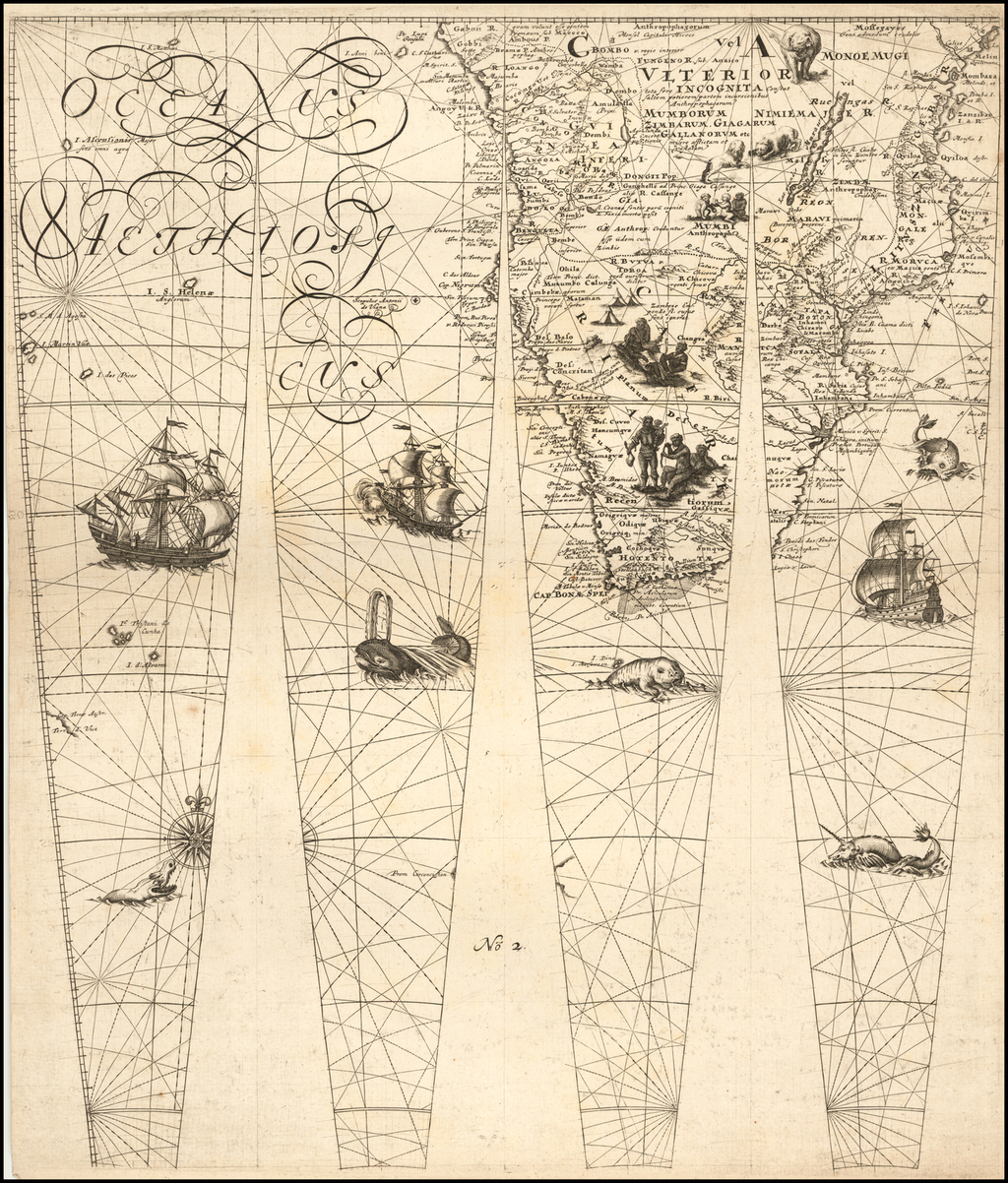 (Southern Africa -- Untitled Globe Gores) By Johann Friedrich Endersch