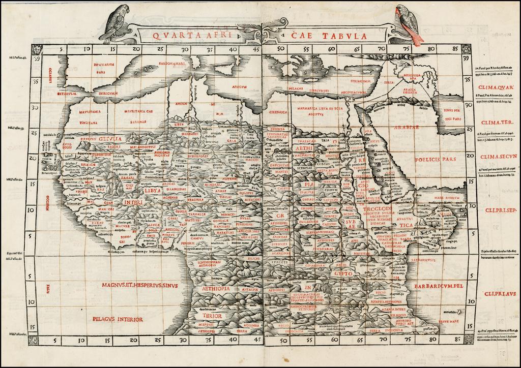 Quarta Africae Tabula [Africa] By Bernardus Sylvanus