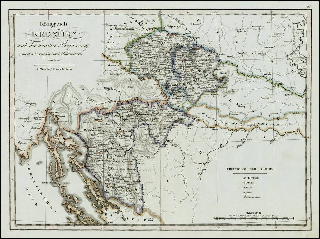 Koenigreich Kroatien nach der Neuesten Begrenzung und verzughlichsten Hulfsmitteln Verhaft . . . By Tranquillo Mollo