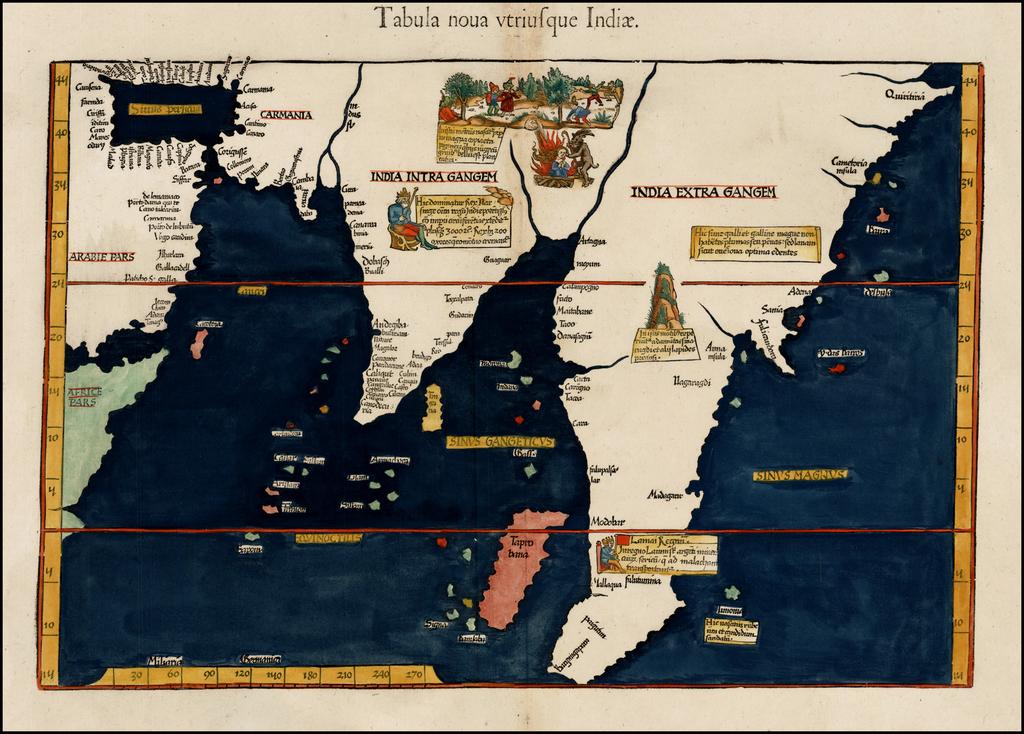 Tabula nova utriusque Indiae By Lorenz Fries
