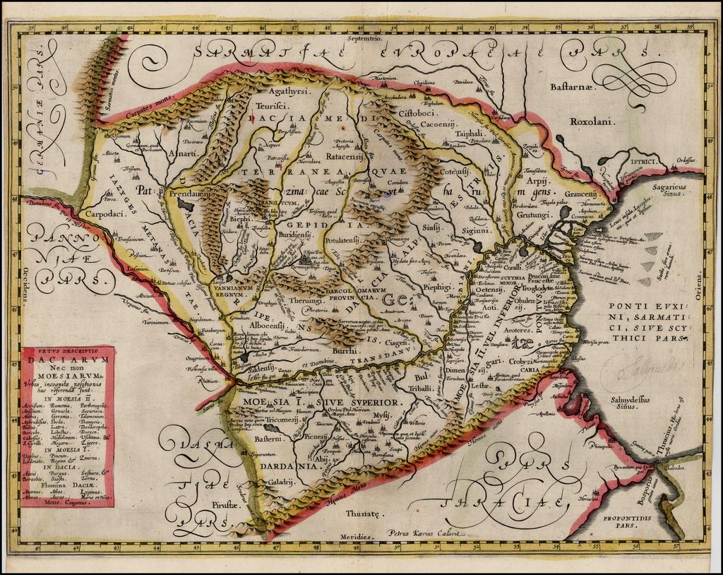 Vetus Descriptio Daciarum Nec non Moesiarum . . . (Proof State) By Petrus Kaerius