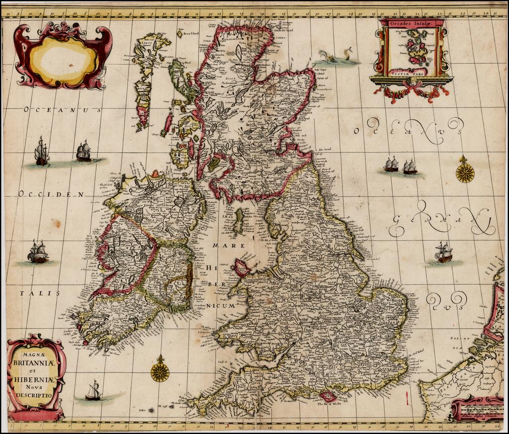 Magnae Britanniae et Hiberniae Nova Descriptio By Frederick De Wit