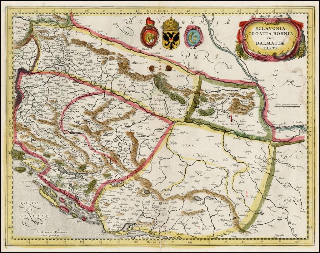Sclavonia, Croatia, Bosnia, cum Dalmatiae cum Dalmatiae Parte By Jan Jansson