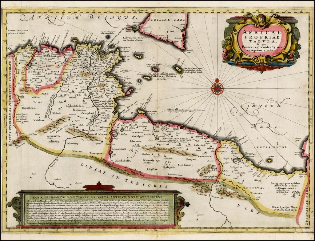 Africae Propriae Tabula In qua Punica regna uides Tyrios et Agenoris urbem By Jan Jansson