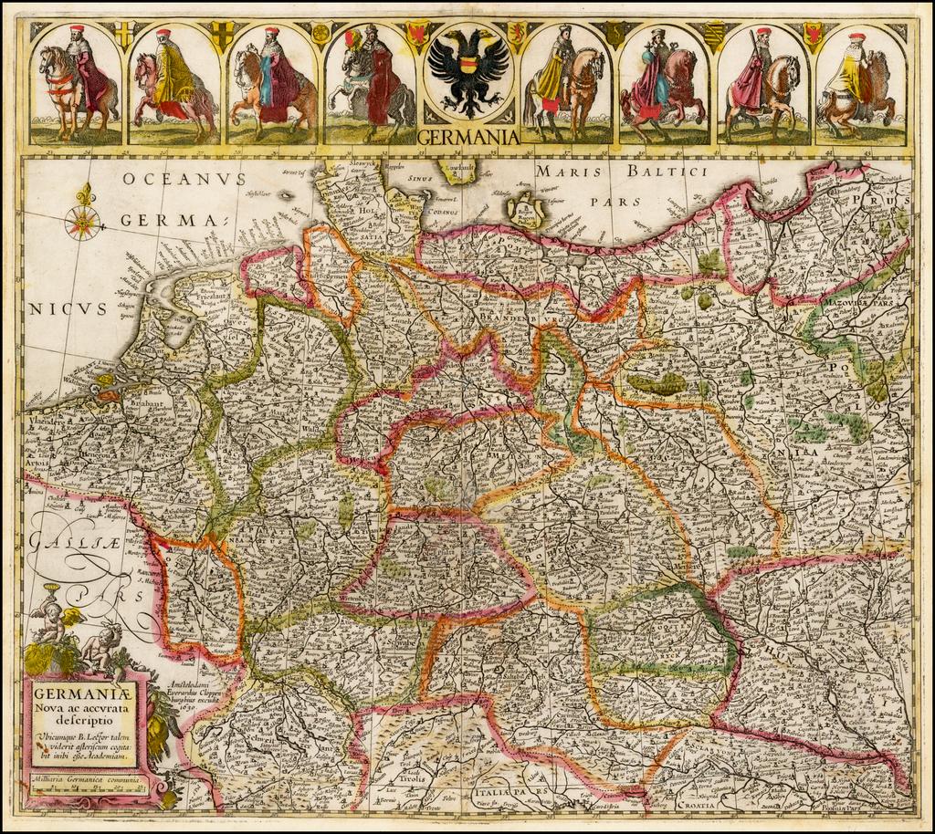 Germaniae Nova acaccurata descriptio . . . 1639 By Johannes Cloppenburg