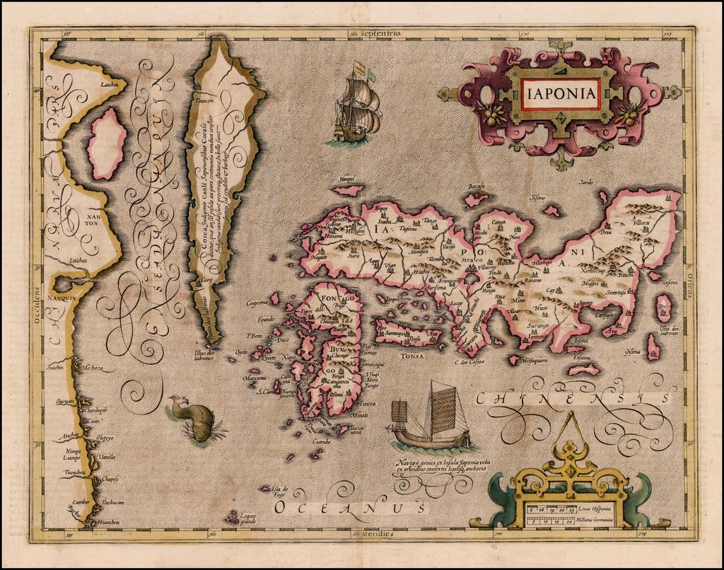 Iaponia By Jodocus Hondius