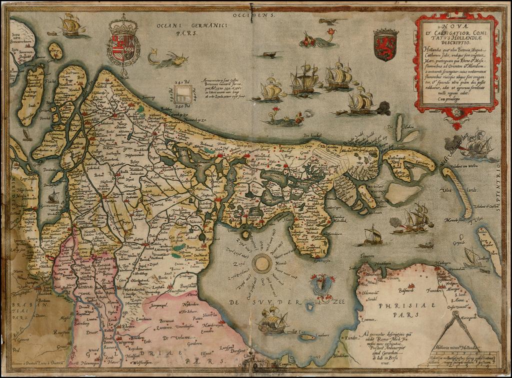 Nova et Castigator Comitatus Hollandiae Descriptio . . .  By Gerard de Jode