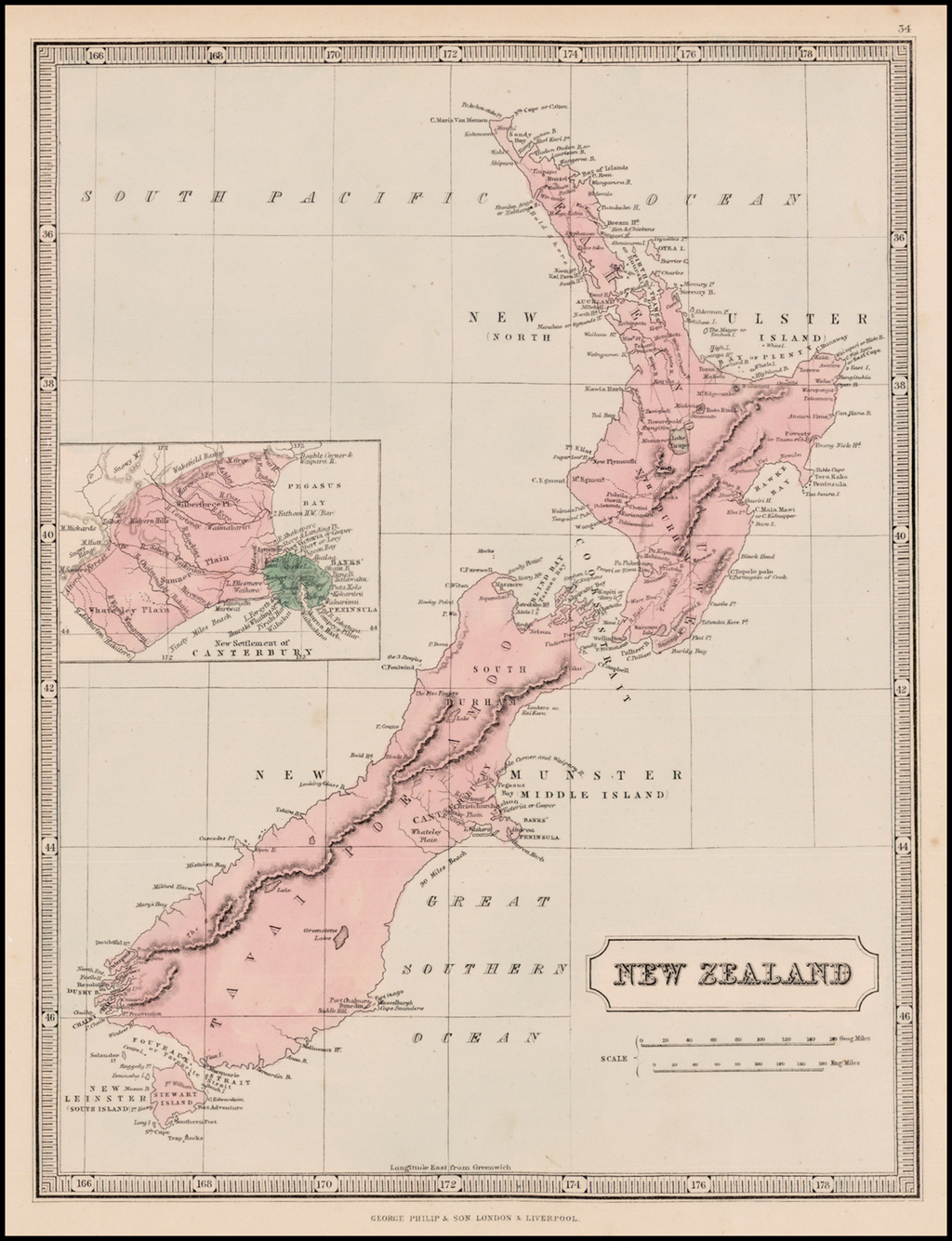 New Zealand By George Philip & Son
