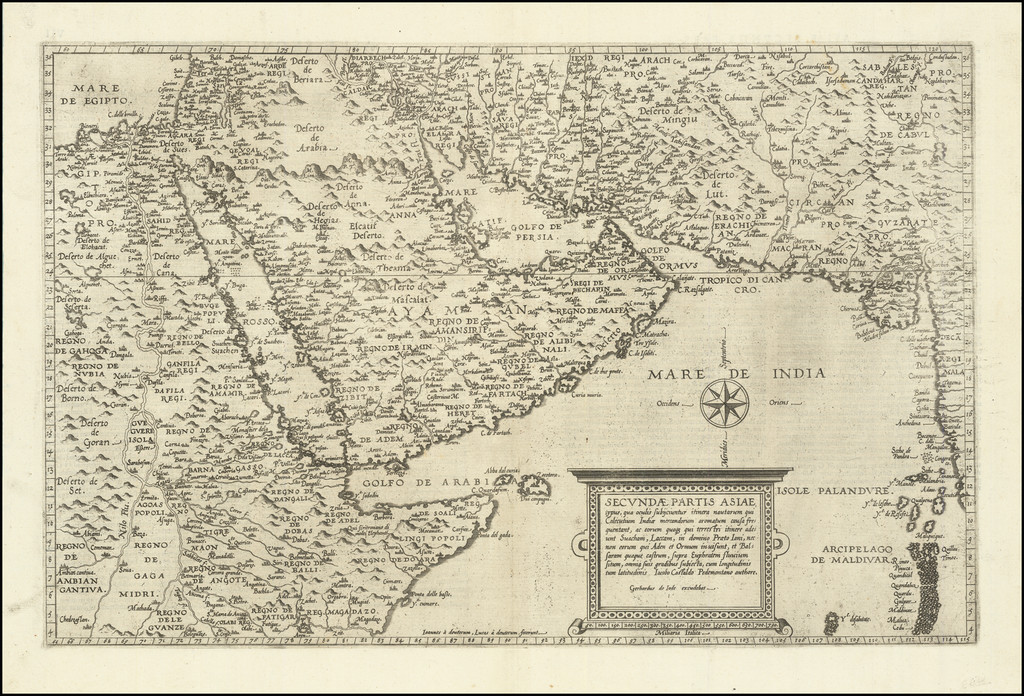 Secundae Partis Asiae . . . (First edition!) By Cornelis de Jode