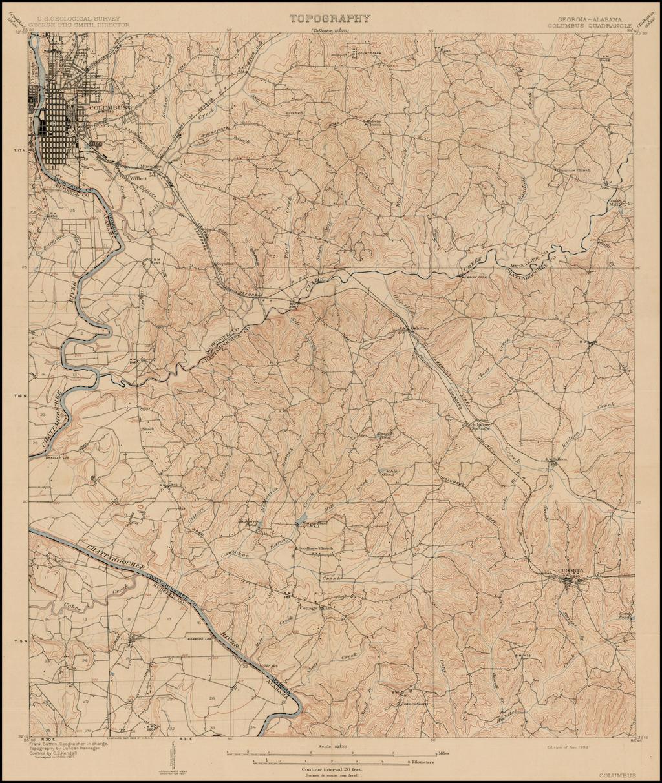 Georgia-Alabama (Columbus Quadrangle) By U.S. Geological Survey
