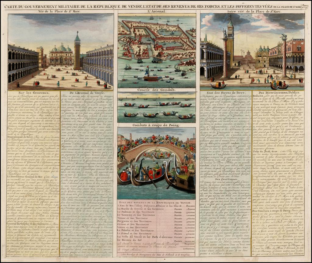 [Venice]  Carte Du Gouvernement Militarire De La Republique Du Venise . . . By Henri Chatelain