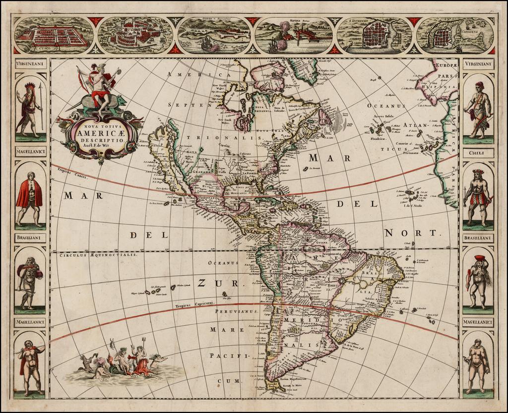 Nova Totius Americae Descriptio Auct. F. De Wit By Frederick De Wit