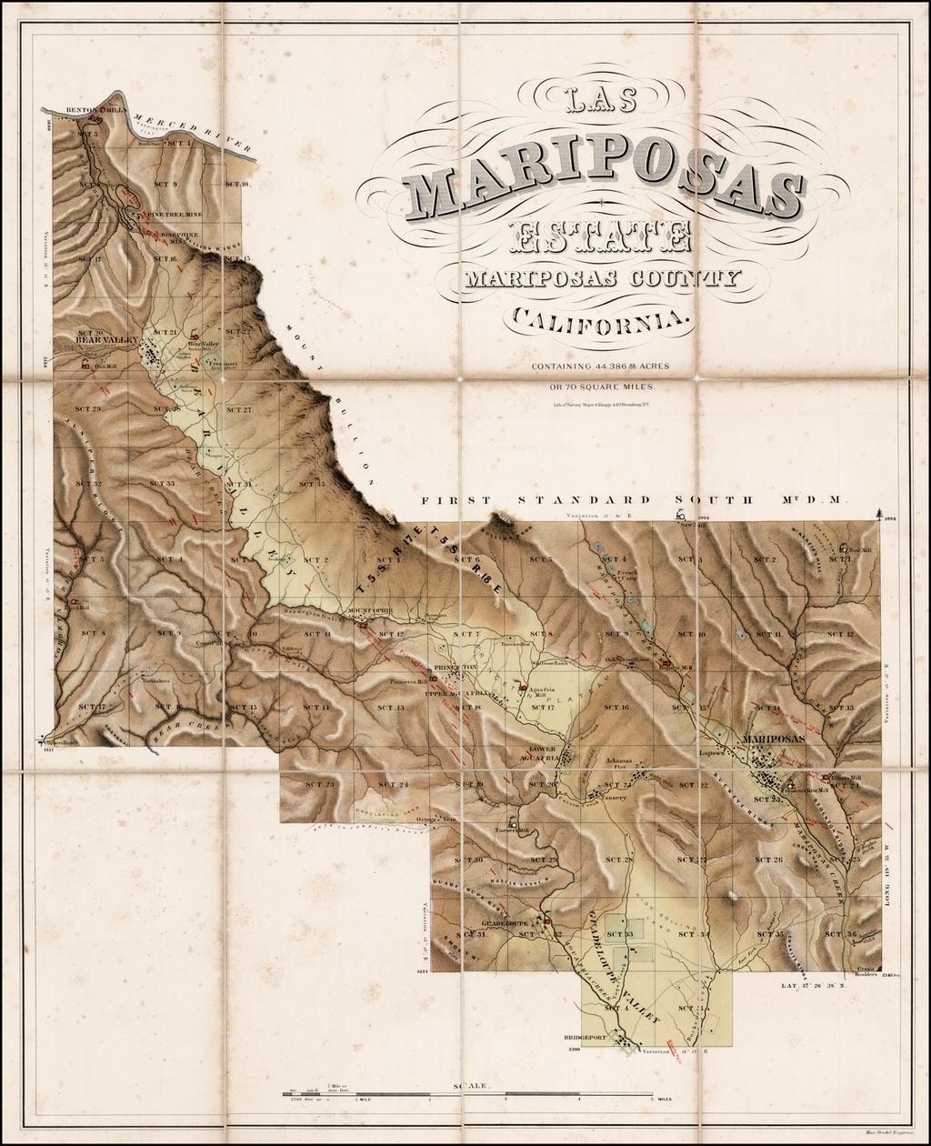 Las Mariposas Estate Mariposas County California . . . By Sarony, Major & Knapp / John Charles Fremont