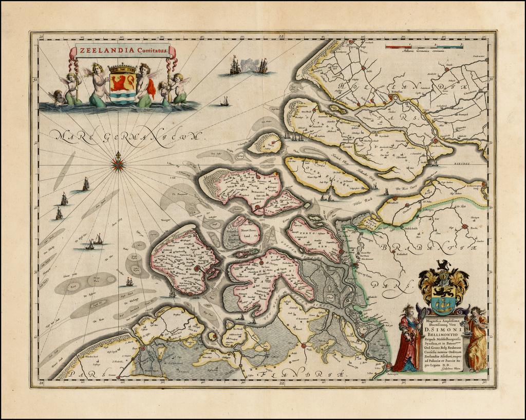Zeelandia Comitatus  By Willem Janszoon Blaeu