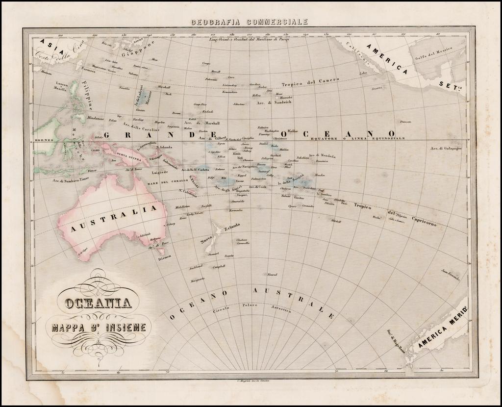 Oceania Mappa D'Insieme By Francesco Marmocchi