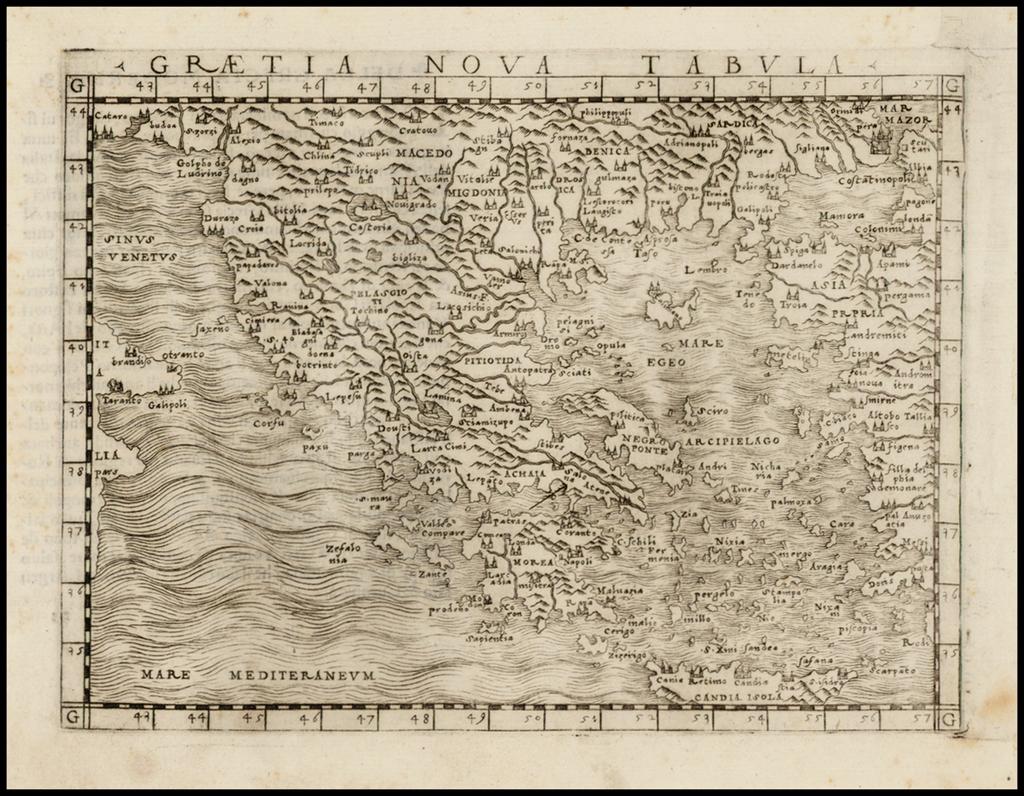 Graetia Nova Tabula By Giacomo Gastaldi
