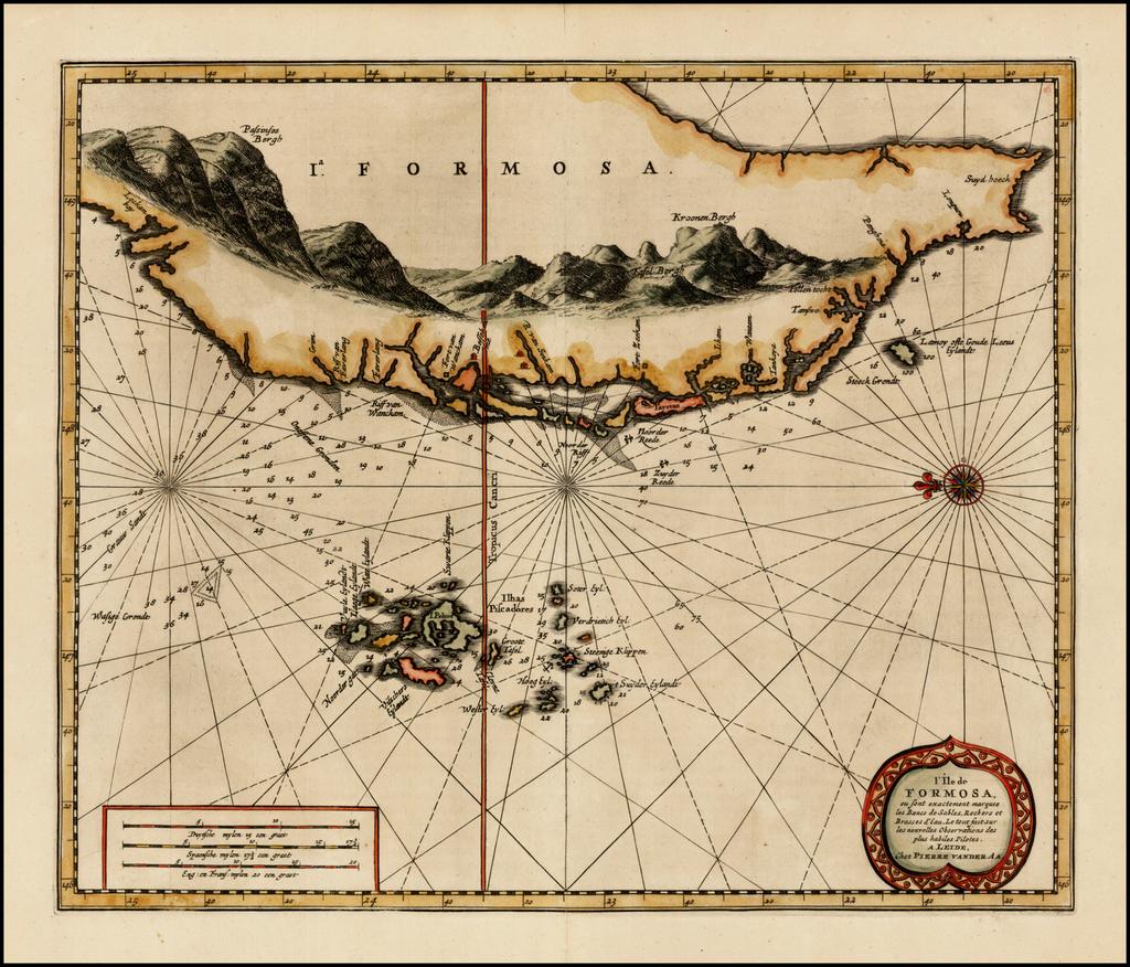 l'Ile de Formosa, ou sont exactement marquez les bancs de Sables, Rochers et Brrasses d'Eau . . . By Pieter van der Aa