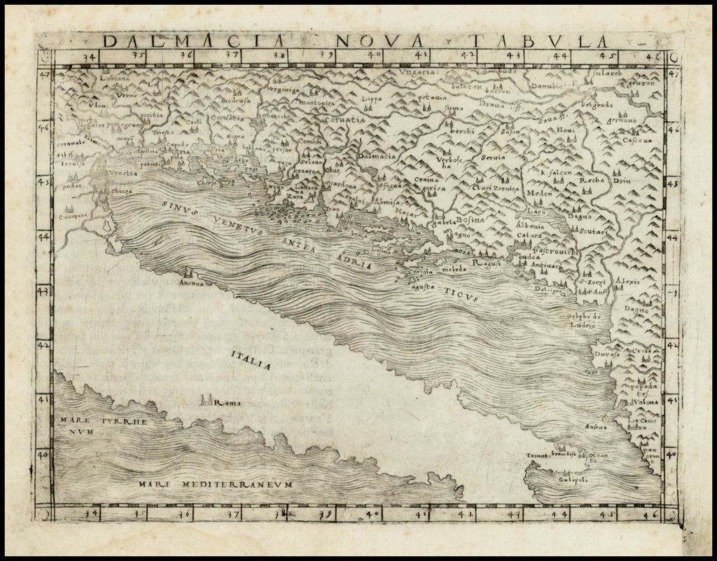 Dalmacia Nova Tabula By Giacomo Gastaldi
