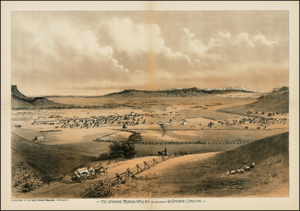 The Grande Ronde Valley As Seen From La Grande Oregon By West Shore Magazine
