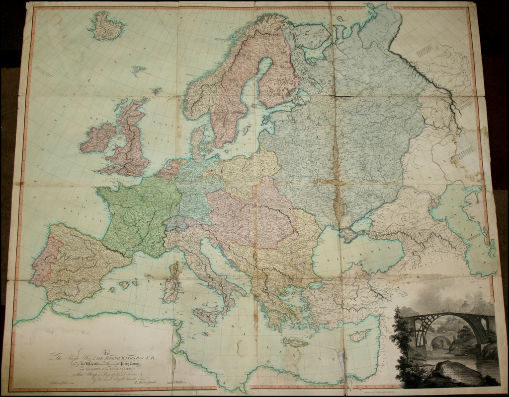 Map of Europe drawn from all of the Best Surveys and Rectified by Astronomical Observations By Aaron Arrowsmith