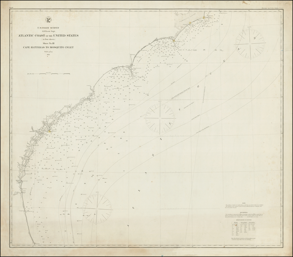 Cape Hatteras To Mosquito Inlet . . .1863 By United States Coast Survey